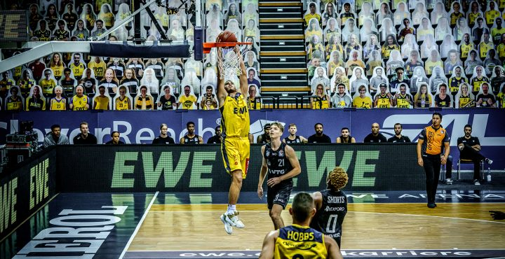 10.10.2020 Vorbereitungsspiel: EWE Baskets - Hamburg Towers
